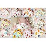 Bebedou - 10baberos con diseño de bandana para bebé, algodón, elegantes, para bebés y niños, toalla, diseño de animales del zoo