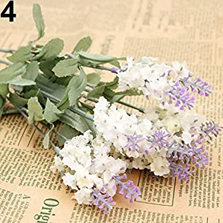 Homeofying 10 Cabezas 1 Ramo de Seda sintética Lavanda Falso jardín Planta Flor decoración del hogar