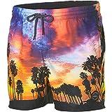 O'Neill Mid Vert Photo Art Shorts Beachwear Costume Da Bagno da, Uomo, Mid vert photo art shorts, Rosso - Red AOP, XL