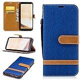 Galaxy S8 Coque - Samsung Galaxy S8 G950F Mode Hit la Couleur Portefeuille Housse Etui avec Support Bleu