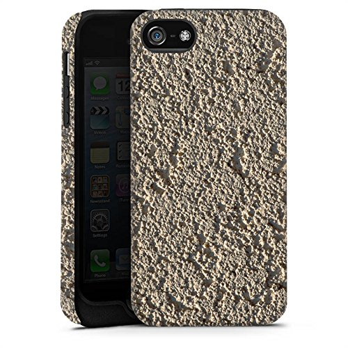 Apple iPhone X Silikon Hülle Case Schutzhülle Beton Wand Muster Struktur Tough Case matt