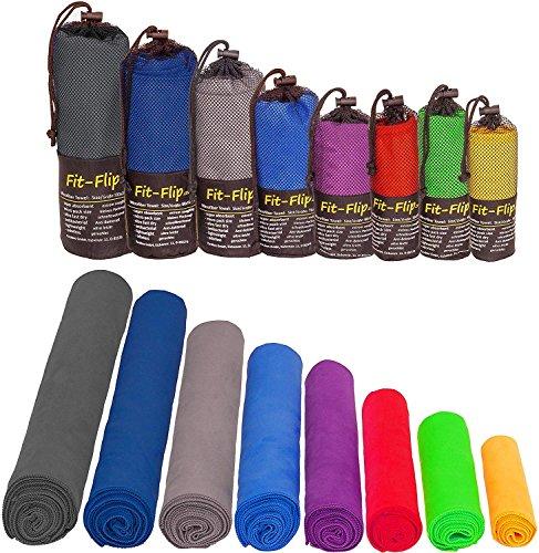 Mikrofaser Handtücher in ALLEN Größen / 12 Farben – klein, leicht und ultra saugfähig - das perfekte Sporthandtuch, Reisehandtuch, Microfaser-Badetuch, XXL Strandhandtuch, Sauna Microfaser Handtuch groß (50x100cm blau)