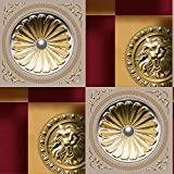 Retro nostalgische Tapeten 3D-Anaglyphenbild bronze Münzen Tapeten B