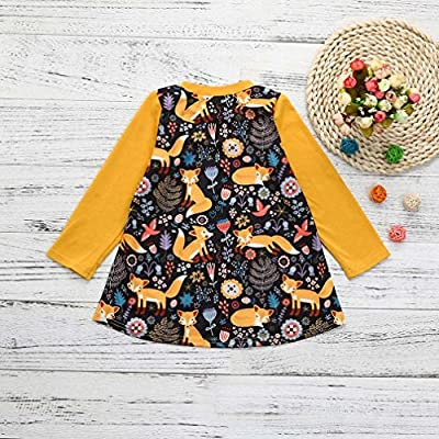 Baby Girls Dress, Xinantime Toddler Kids Print Cartoon Fox Sun Dress Clothes Outfits : everything 5 pounds (or less!)