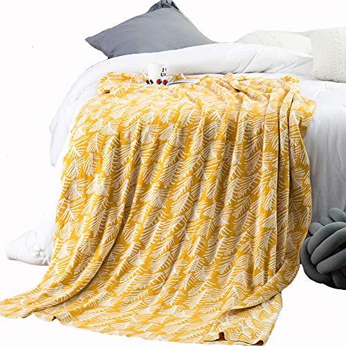 Ancoree 100% cotone coperta del tiro divano copertina coperta super morbido peluche throw coperta per divano letto divano sedia accogliente sleepover ufficio naptime coperta,130x180cm