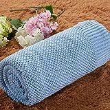 Upstudio Warme Schlafsofa Decke Babydecke, Mutter und Baby, Komfortdecke, Baumwollstrickdecke für Textilkinder (Farbe: Blau, Größe: 120 * 180 cm)