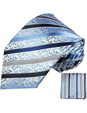 Cravatte Set 2 tlg 100% blu matrimonio festa un'altezza tempo in seta cravatta con fazzoletto