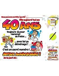 Amazon Fr Carte Anniversaire 40 Ans T Shirts Hauts Vetements