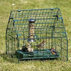 Squirrel Proof Ground Sanctuary Bird Feeder Feeding Box
