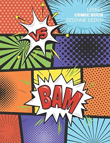LEERES COMIC BUCH ZEICHNE DEINS: Zeichne und erstelle dein eigenes Comic-Skizzenbuch: ~A4 (21.59 x 27.94 cm) mit 120 Seiten Journal Notebook Comic-Panel für Künstler aller Niveaus (Blank Comic Books) -