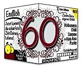 Endlich 60 - Eine tolle Geschenkidee zum 60. Geburtstag und ein witziges Geschenk für Männer und Frauen!