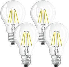 Osram Lampada LED E27, 4 W, 10.5 x 6 x 6 cm, 4 Unità