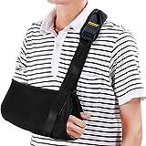 Fascia di supporto per braccio reggibraccio tutore per Sling brache di spalla - Rete Ergonomica, leggera e traspirante, tracolla imbottita in neoprene per adulto