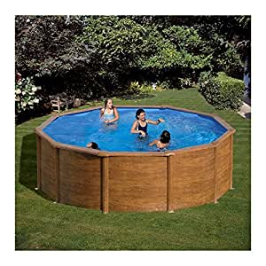 Gre KITPR353W above ground pool - above ground pools (Blue, Wood, Frame, Round, EN16582, EN16713, Cartridge filter, Pallet)
