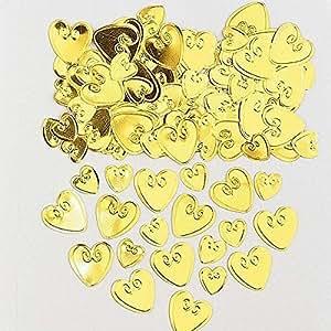 Amscan 990050314g Loving Herzen geprägt Metallic-Konfetti