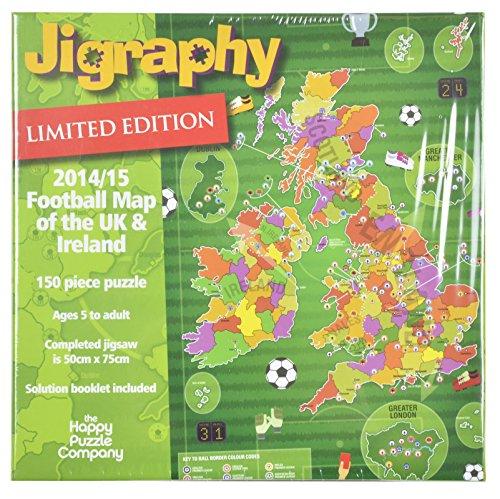Jigraphy 2014/15 Football Map Jigsaw