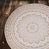 RAJRANG BRINGING RAJASTHAN TO YOU Tapestry Wall Hanging - Mandala Tapestries Ombre Table Cloth Beach Towel Large Tapestry for Home Decor