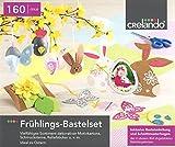 CRELANDO® Bastelset Frühjahr & Ostern - Bastelset, 160-teilig