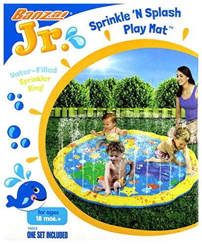 Banzai 14663 Garden Toy Durchmesser 147 cm Pool mit Sprinkler Planschbecken Rutsche Sprinkle'n Splash Play Mat