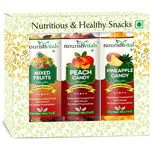 Nourish Vitals Peach + Pineapple + Mixed Dried Fruit (dehydrated Fruits)