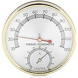FTVOGUE Metal Dial Sauna Termómetro Higrómetro Higrómetro Interior Termómetros Climáticos