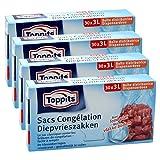 Toppits Tieffrierbeutel 3L (25 x 27cm), 4er Pack (4 x 30 Beutel)