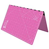 ANSIO A2 Self Healing Foldable Cutting Mat with Imperial 23 inch x 17 inch - Pink