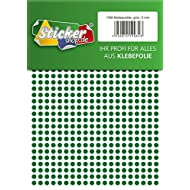 1160 Klebepunkte, 5 mm, grün, aus PVC Folie, wetterfest, Markierungspunkte Kreise Punkte Aufkleber