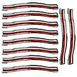 Lot de 5poignées de tiroir PsmGoods en alliage strass cristal pour commode armoire de cuisine placard, rouge/blanc, 128MM-10PCS