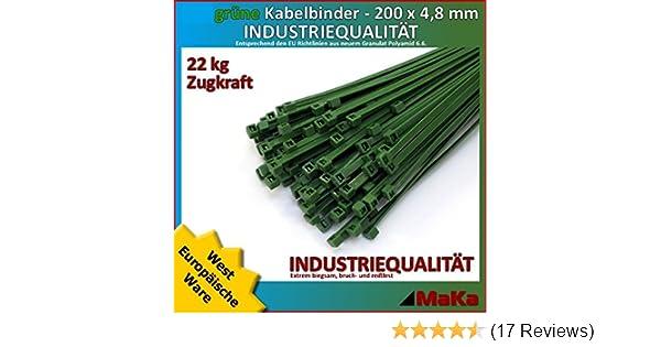 Kabelbinder schwarz 200x4,8 mm 200 x 4,8 mm Verpackung 100St Industriequalität