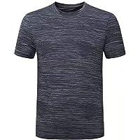 Maglia Compressione da Uomo Maglia a Manica Corta Sports Fitness Shirt Asciugatura Rapida T-Shirt per Corsa Ciclismo…