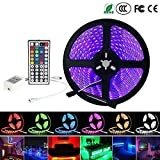 iNextStation Flexible RGB LED Light Strip, 5M/16.4ft 300 Units SMD 5050 Waterproof LED Strip Light +44Key IR Remote Controller Kit  for Home Lighting, Kitchen, Christmas, Indoor & Outdoor Decoration [No Power Supply]