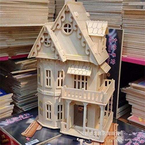 LEMOGO Fantasy Villa - Quay Kit de Construction Woodcraft Jolie Chambre -