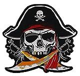 Pirat Totenkopf Backpatch Rückenaufnäher XXL 23 x 22 cm