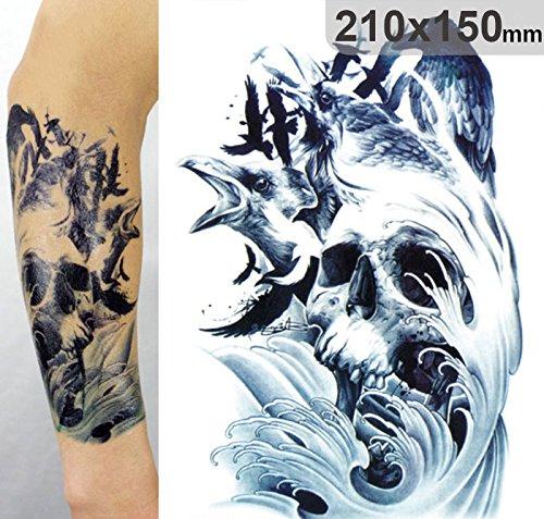 temporre-krperkunst-entfernbare-tattoo-aufkleber-riesige-wellen-lc804-sticker-tattoo-temporary-tatto