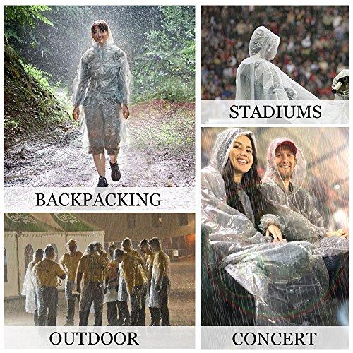 Einweg Erwachsene Poncho Regenjacke Regenmantel Unisex  Regencape Notfall Damen Regenbekleidung Angelsport