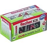 fischer DUOPOWER 5 x 25, universele pluggen, krachtige 2-componenten pluggen, kunststof pluggen voor bevestiging in beton, ba