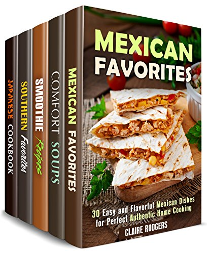 Tasty and Flavorful Box Set (5 in 1): Over 150 Recipes with Authentic Twist and Rich Taste to Spice Up Your Cooking (Spicy Authentic Cooking) (English Edition)