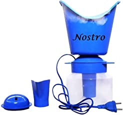 Nostro Naulakha Vaporizer with 3 Attachments Facial Sauna Steamer/Nozzle Inhaler/Nose Vaporizer/Nose Steamer for Cold and Cough (Blue)