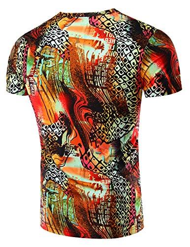 YCHENG Herren T-Shirt 3D-Druck Beiläufige Hemd Bluse Kurzarm Tops Graphics Tees A