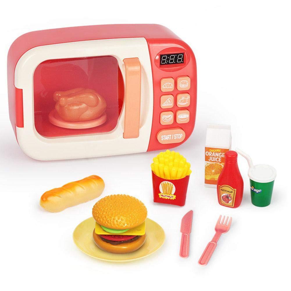 Juguete de Microondas con alimentos para Niños