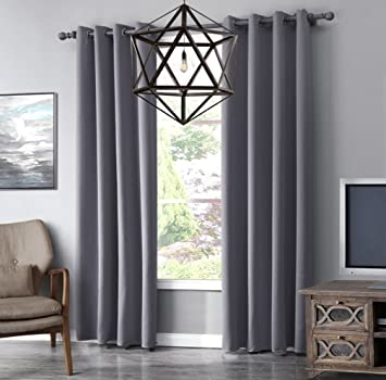 Living Room Curtains amazon living room curtains : Bellabrunnen Eyelet Curtains Living Room Curtains Insulate Light ...