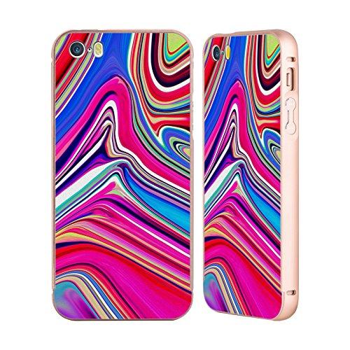 Ufficiale Shelly Bremmer Dopa Astratto E Vivido Oro Cover Contorno con Bumper in Alluminio per Apple iPhone 5 / 5s / SE Calmo