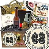 63 Geburtstagsgeschenk NVA Paket | Geschenke zum 63. Geburtstag für Mann | mit Original Feldflasche der NVA, Flasche NVA Bier und mehr