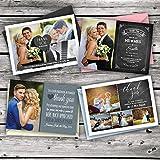 Dankeskarte zur Hochzeit, mit Foto und farbigen Umschlägen, personalisierbar-