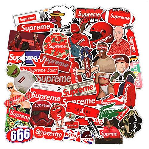 Sanmatic Supreme Sticker Decals 127 Pezzi Supreme Laptop Vinyl Adesivi Per Bottiglia Dacqua Auto Snowboard Bagagli Moto Iphone Macbook