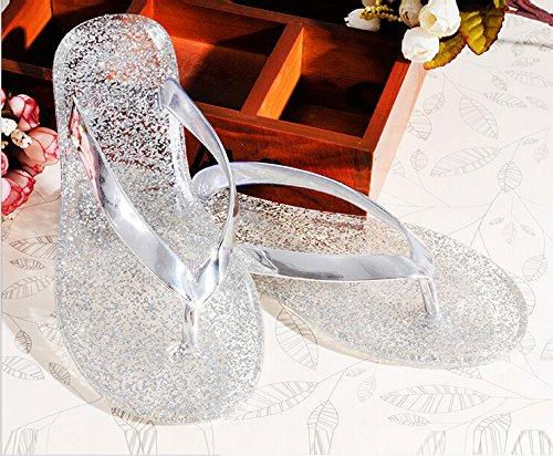 Gaorui donna scarpe sandali infradito bassi mare gomma women flip flops colorful Oro