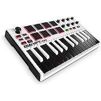 Akai Pro  Limited Edition-Kompakter USB MIDI Keyboard, Pad Controller mit 25 tasten, anschlagdynamischen Pads, MPC Essentials, SONiVOX Wobble und Hybrid 3, Weiß