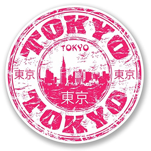 Preisvergleich Produktbild 2x Tokio Japan Vinyl Aufkleber Aufkleber Laptop Reise Gepäck Auto Ipad Schild Fun # Vliestapete 5775 - 10cm/100mm Wide