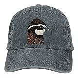 Aeykis Bobwhite Quail Trend Printing Cowboy Hat Fashion Baseball Cap for Men and Women Black ABCDE11738